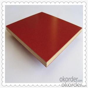 15mm Thickness Film Faced Plywood with Red Color Film