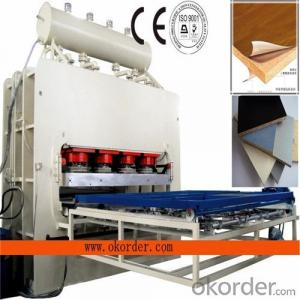 MDF Board Short Cycle Melamine Lamination Hot Press Machine