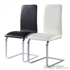 chair - Red Wool Fabric - polished aluminum base
