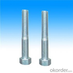 Hex Bolt Fasteners DIN 933 High Quality Steel Hot Galvanized