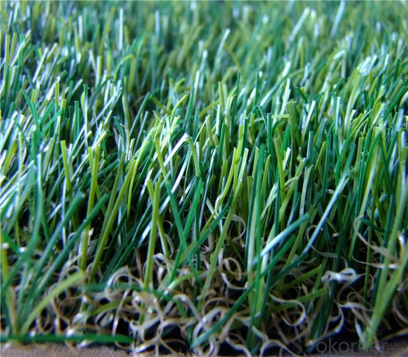 Natural looking Landscaping Artificial Grass 30mm 4 color