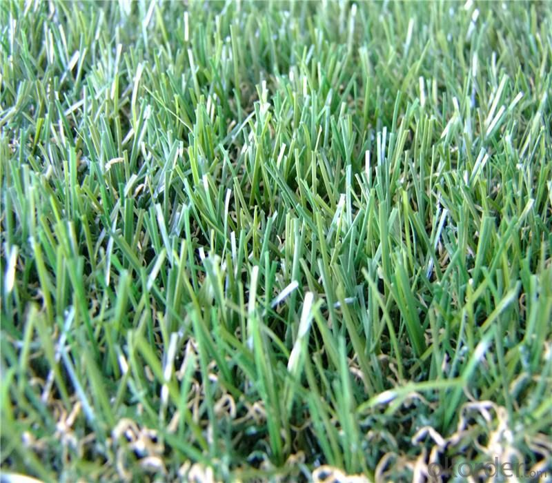 Green Turf Landscaping Artificial Grass For Villa , Home Garden