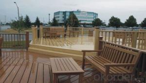 Outdoor Oak Durable Solid Marina WPC Decking