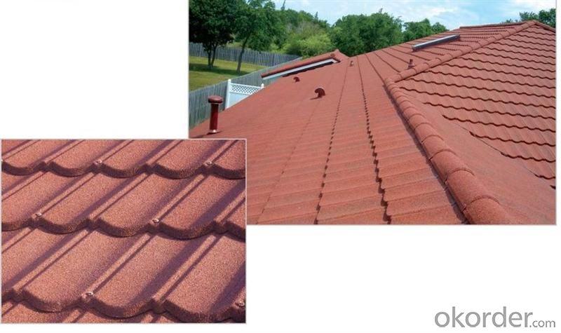 Buy Durable Shingle Sun Stone Coated Metal Roof Tile Price