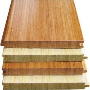 Natural Horizontal Solid Bamboo Flooring Parque UV Coating Click System