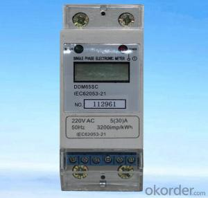 DDM65SC 2 Modular Single Phase Din Rail Electric Kwh Meter