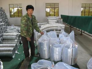 Non-insulated Flexible Duct Biggest Manufacturer in China