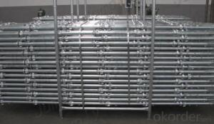 CUP LOCK SCAFFOLDING WITH  DIP GALVANIZATION