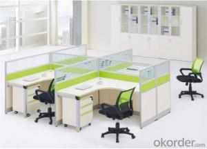 Steel and MFC Executive Desk for Four Employees