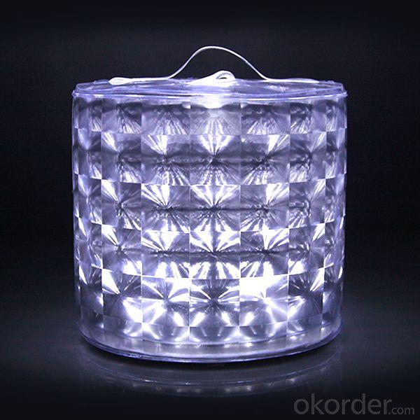 Diamond Design Waterproof White Led Camping Solar Lantern