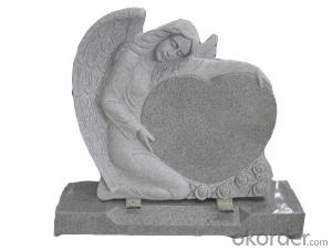 Chinese Grey Granite Headstone and Tombstone with Modern Design and Cheap Price