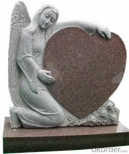 European Black Granite Headstone and Tombstone with Simple Design and Low Price