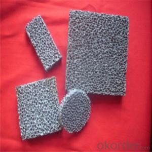 Alumina Circle Ceramic Foam Filter Supplier