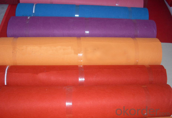 Nonwoven Latex Backing Exhibition Carpet