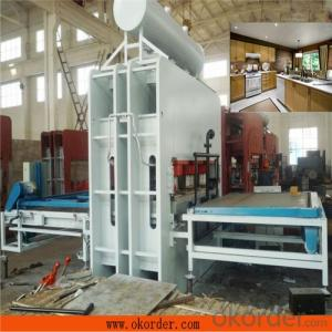 Particle Board Short Cycle Melamine Lamination Hot Press Machine