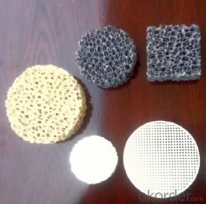 Silicon Carbide Ceramic Foam Filter Honesty Long Working Life