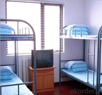 Domitary Metal Bed with Workstation,Popular