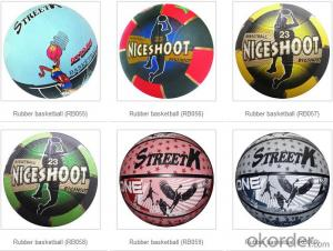 Wholesale Bulk Cheap Standard Custom Rubber Basketballs