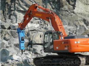 Powerful Hydraulic Breaker Hb 680 Breaking Rock