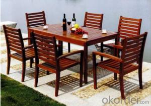 Outdoor Furniture Patio Teak Wood Garden Furniture Plastic Wood Table