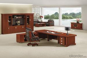 Office Executive Table with Vaneer Painting