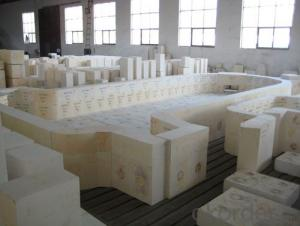Fused Cast AZS Brick Zirconia Corundum Brick Used for Glass Furnace
