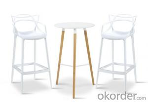 Dinning Chair Plastic & Wood & Metal Model CMAX-PP601
