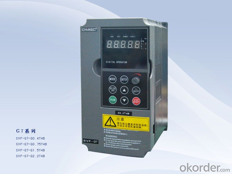 Frequency inverter 0.4kw ac motor speed controller