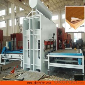 Particle Board Melamine Short Cycle Laminated Hot Press Machine