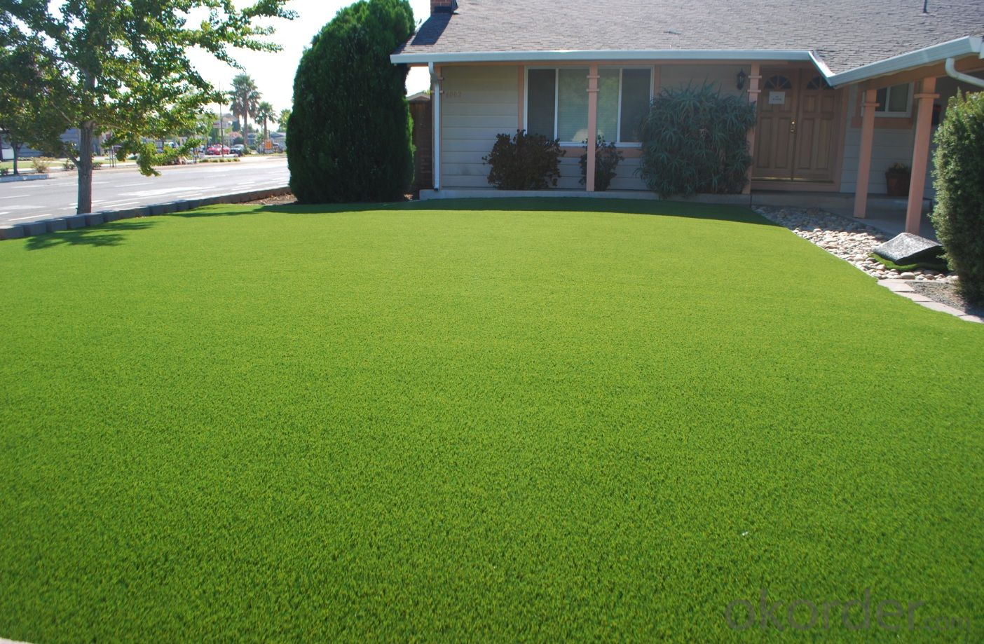 Outdoor Green Landscape Artificial Grass 40mm turf for residential