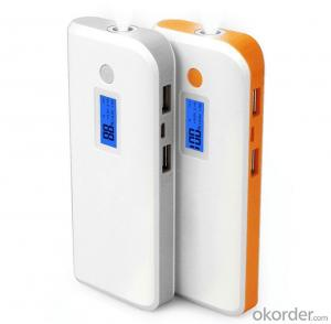 10400mAh Quick Charge Digital Display Mobile Battery with LED Light