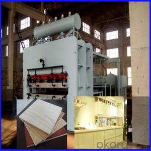 CE Certificated Real Wood Short Cycle Press Machine