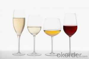 Cheap Wholesale Wine Glasses Made of High White Glass 410ml