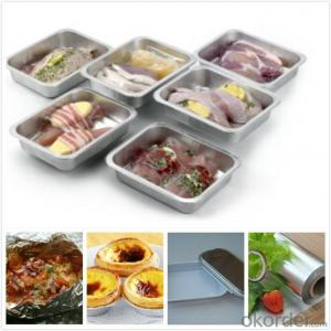 Aluminum Foil For Food Packaging / Lunch Box 9Micron Container FOR FOOD