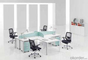 Work Station Office Furniture Use for 4 People