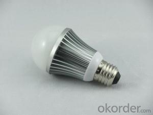 E27 A60 7W Aluminum IC Driver with CE&ROHS LED Light Bulbs
