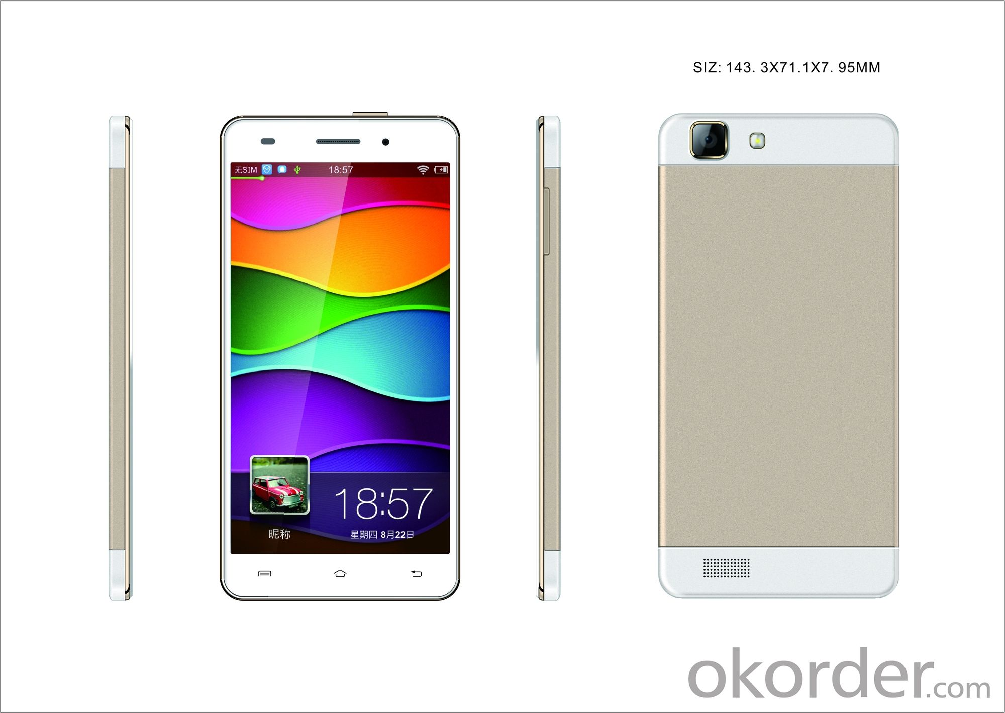 Smartphone MTK6582 quad core with 5 inch