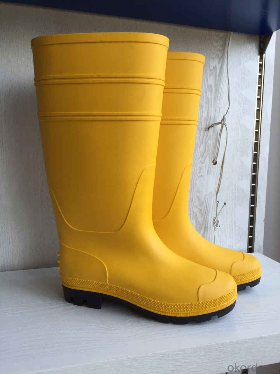 PVC Steel Toe Safety Boots Safety Work Boots
