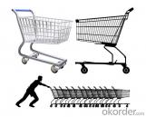 Supermarket Shopping Cart for Unfolded Handle Cart