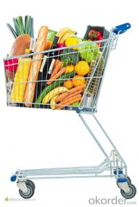 Steel Chrome Plated European Style Shopping Trolley