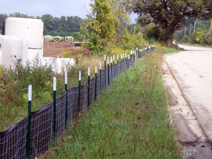 Silt Fence with Wooden Stake/Polypropylene Woven Fabric