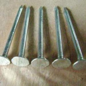 2 Inch Galvanized Concrete Nails With Fluted Shank Printing