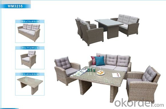 Outdoor Furniture Rattan Sofa CMAX-WM3235