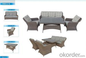 Outdoor Furniture Rattan Sofa CMAX-WM3218
