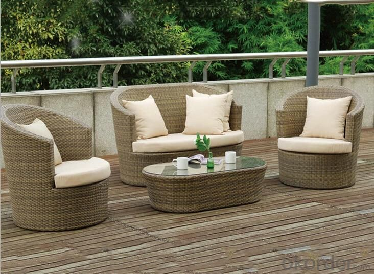Outdoor PE Wicker/Rattan Sofa CMAX-YHA037