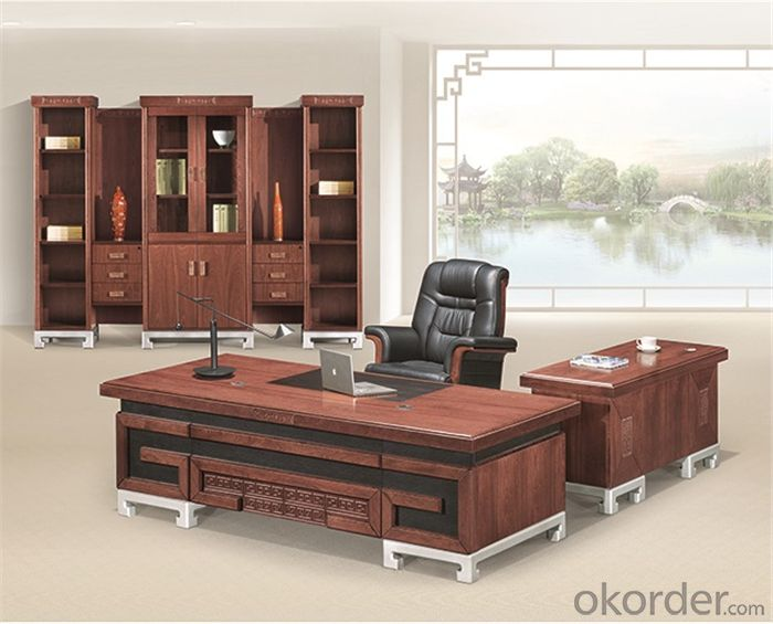 Executive Table with Veneer Painting Face