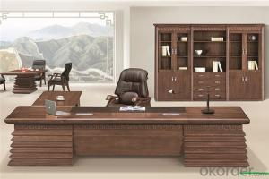Office Executive Table with Veneer Painting