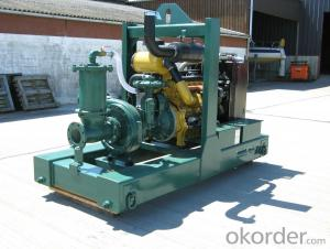 Diesel engine vacuum assist self priming dewatering pump