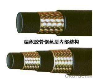 Rubber Hoses with Smooth Surface Engraved Marking Steel Wird Braided Hose