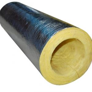 Glass Wool Pipe 30kg/m3 With Aluminum Foil Facing